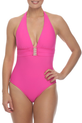 Pink Halter One Piece CA-339