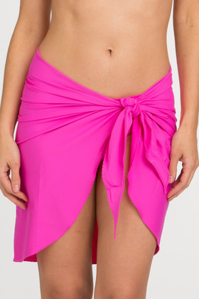 Pink Stretch Wrap Cover Up CA-403