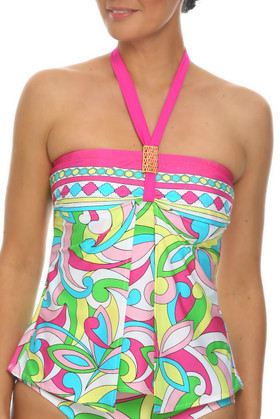Floral Loose Fit Tankini RA-144
