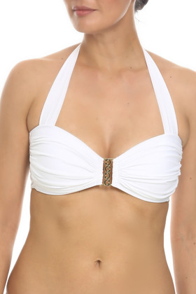 White Molded Cups Bandeau ND- 138