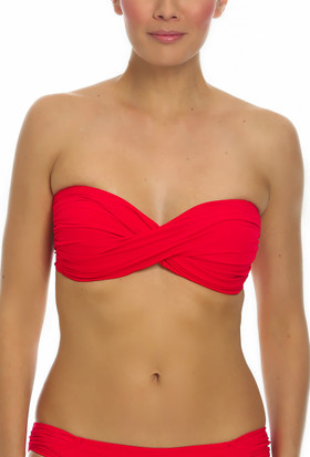Red Molded Cups Bandeau RE-136