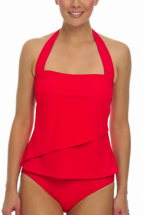 Red Tankini Loose Fit RE-150
