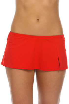 Red Skirted Pant RE-252