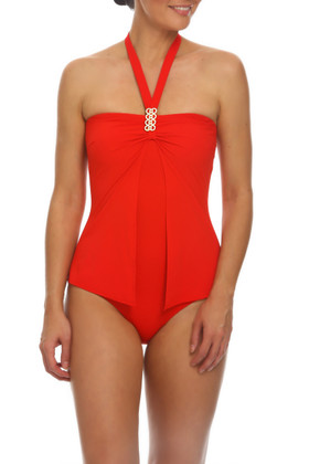 Red Bandeau One Piece RE-344