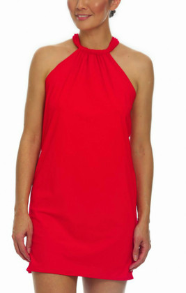Red Halter Dress Cover Up RE-409