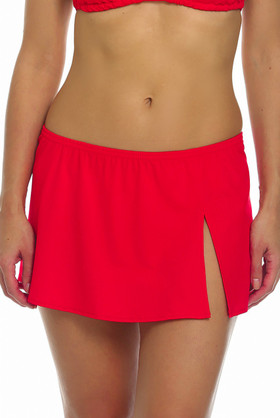 Red Skirted Cover Up RE-412
