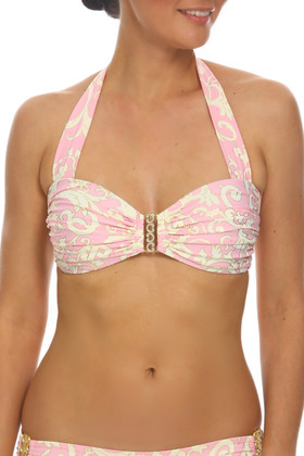 Pink and Cream Bandeau EF-138