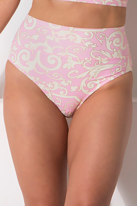 Pink and Cream High-Rise Pant EF-213