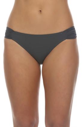 Gray Ruched Tab Bikini Bottom GP-258