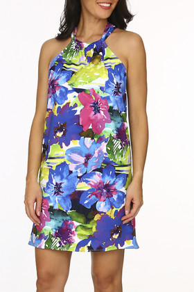 Floral Halter Dress Cover Up KA-409
