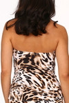 Brown and Cream Tankini ZI-150