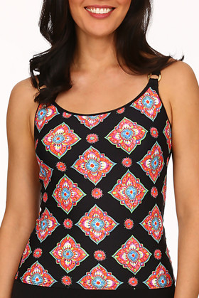 Black and Coral Tankini MK-107