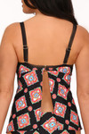 Black and Coral Tankini MK-112