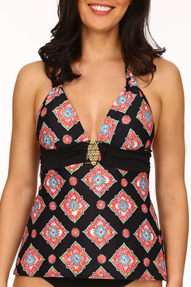 Black and Coral Tankini  MK-130