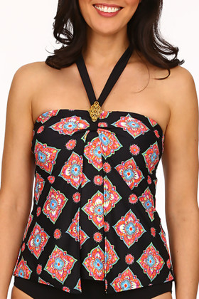 Black and Coral Tankini MK-144
