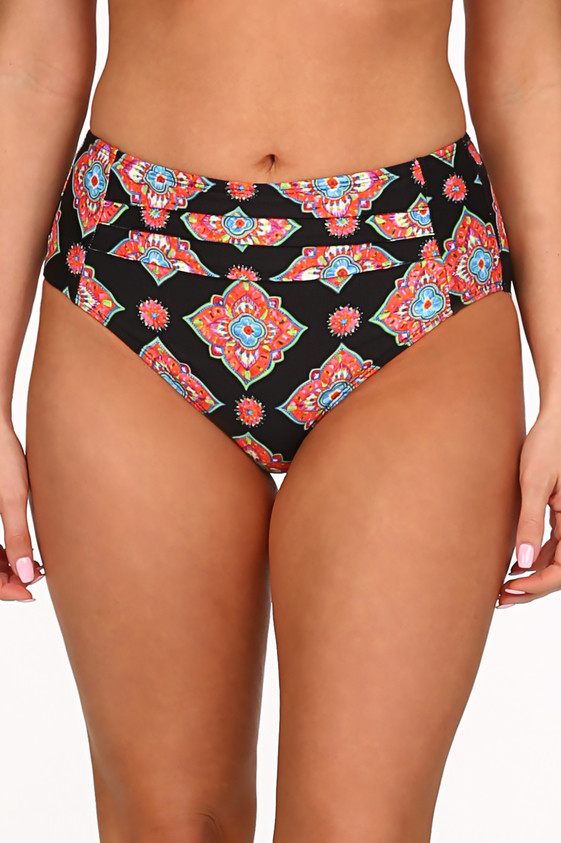 c82336000aba6 Black and Coral Pant MK-209 - Tara Grinna Swimwear