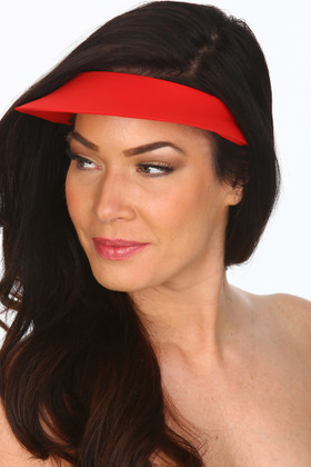 Red Lycra Covered Visor  RE-501