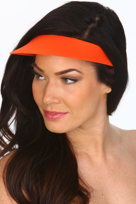 Tangerine Lycra Covered Visor TN-501