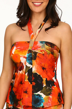 Floral Loose Fit Tankini TA-144