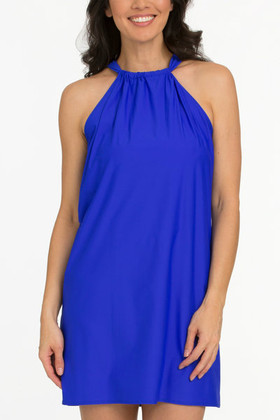 Blue Halter Dress Cover Up RY-409
