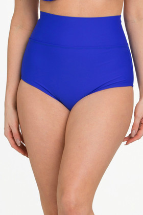 Royal Blue Hi-Waist Low Leg Bottom RY-233