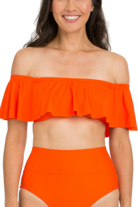 Tangerine Flounce Top TN-125