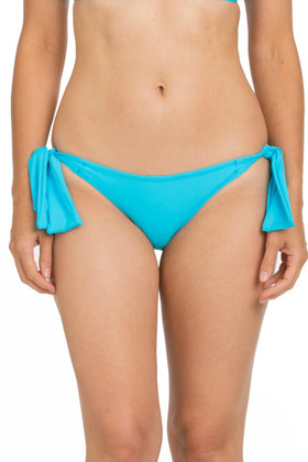 Turquoise Tie Side Cheeky Bottom TU-261