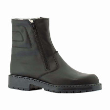 Martino Outback Black Leather . Martino Outback Black Leather is a great mens winter boot  highly fashionable with the warmth need for those cold winter days