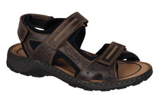 Rieker 26061-25 Brown Leather sandal. This sandal incorporates their special construction and utilizes lightweight and elastic components to achieve unique antistress features.
