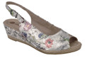 Remonte D2463-91 Multi Floral Sling Back Sandal. This style will surely will make a fashion statement among your friends. It's cute and sexy. It's a real feminine look to be sure.
