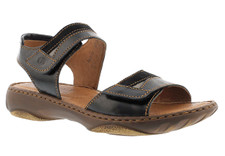 Josef Seibel Debra 19 Black Kombi Soft leather footbeds and linings allow feet to breathe, with lightweight soles adding flex and comfort under your feet.