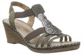 Remonte D6747-91 Metallic Sling Back Sandal. This eye-catching pair of stylish Remonte strappy sandals features a shiny synthetic uppers and leather lining. Designed with elasticated panels at the side and a slingback strap.