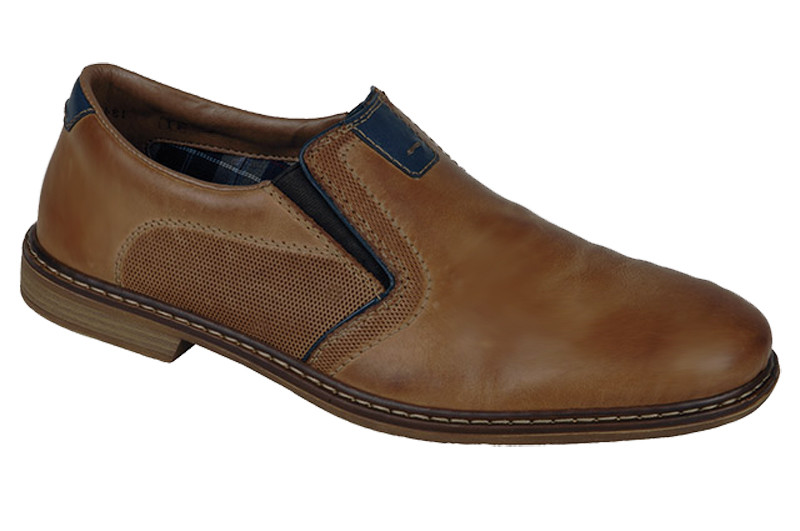 31681ced Rieker 13454-25 Mens Toffee Slip On | Rieker Shoes | Vimi Shoes