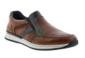Rieker B5160-25 Men's Brown Combo Loafer