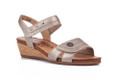 The Remonte R4450-90 leather women's sandal is perfect for any occasion with a nice steady wedge heel. A vercro fastening strap make it easy to take them on and off.