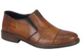 Rieker 17661-23 Men's Brown Cavallino Slip on This Rieker 17661-23 extra wide-cut, classic slip-on is from the current collection. The upper material and the insole are made of genuine leather. Two elastics for ease of in and out. Real leather uppers.