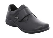 Josef Seibel Josefine 55 Women's Black Velcro Casual. The Josef Seibel Josefine 55 black is a strong high rise loafer made of smooth leather that gives you a comfortable walking experience. A useful velcro strap allows an easy entry and exit and adapts to every foot. Construsted in a waterproof leather and a soft ply-able sole give you the best in footwear experience.