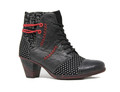 Remonte D8786-02 Women's Black/Red Bootie