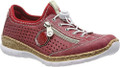 Rieker N4296-35 Women's Red Casual Sneaker.