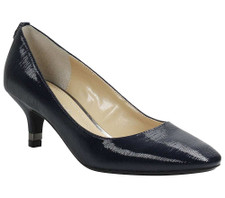 J. Renee, Bettz Navy Striated Patent on a two inch heel   Balanced between classic and modern, this round toe mid heel pump is wrapped in striated patent easy to wear for office to dinner. Accessorize slacks to dresses all week long. The Bettz features a memory foam insole for added cushion and comfort. Make a style statement for any occasion with J. Renee from Vimi Shoes in Moose Creek Mall