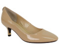 J. Renee, Bettz Nude Striated Patent Pump on a two inch heel Balanced between classic and modern, this round toe mid heel pump is wrapped in striated patent easy to wear for office to dinner. Accessorize slacks to dresses all week long. The Bettz features a memory foam insole for added cushion and comfort. Make a style statement for any occasion with J. Renee from Vimi Shoes in Moose Creek Mall.