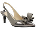 J. Renee Gabino Silver Powder Metallic sling back features a memory foam insole for added cushion and comfort. Make this 2 1/4 inch heel style a fashion statement for any occasion with J. Renee footwear from Vimi Shoes in Moose Creek Mall