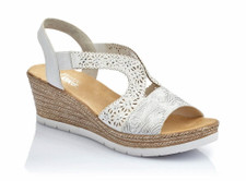 Rieker 61916-80 Women's White Wedge