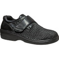 Propet Bianca Black Leather Supple full-grain leather and stretchable uppers with oblique toe character
