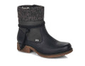 Rieker 79688-00 Womens Black Winter Boot The Rieker black fleece lined boots are constructed with a water repellent MEMBRANE (a layer found between both the inner and outer) that makes them waterproof. Size zip for easy entry. Colour: Anthracite
