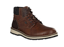 The 38434-26 brown winter boot for men is a high-quality boot made with RiekerTex membrane to keep your feet dry plus a warm lining made of lambswool to keep your feet warm and comfortable. A rugged outersole make this boot a perfect trendy style for this winter. Purchase at Moose Creek Mall in Moose Creek, Ontario