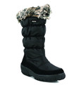 Spring Step Vanish Black. Waterproof high quality nylon winter boot with an inside zipper closure. Faux fur lining with a comfort padded insole. Round toe for comfort and lug sole for safety. Heel high approximately 2 inches and shaft height approximately 11 inches