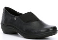 Josef Seibel Dora 01 is constructed with leather uppers and a removable, padded footbed. This slip on style incorporates an elastic goring over the instep making this style easy to put them on and off.  Purchase them at Vimi Shoes in Moose Creek Mall.