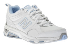 New Balance WX857WB White The New Balance 857 updates the 855, 856 the classic cross-trainer designed with our premium stability technology. This shoe is an excellent choice for short runs, multisport workouts, or weightlifting.