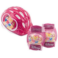 Disney Princess Micro Bicycle Helmet -- and Protective Pad Value Pack (Toddler)